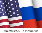 flags of the united states of... | Shutterstock . vector #644403892