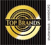 top brands gold badge | Shutterstock .eps vector #644404192