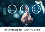 businessman hand pointing the... | Shutterstock . vector #644404756