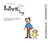 happy father day family holiday ... | Shutterstock .eps vector #644406472