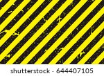line yellow and black color... | Shutterstock .eps vector #644407105