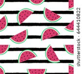 vector seamless pattern with... | Shutterstock .eps vector #644410822