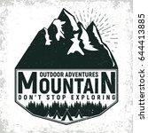 vintage camping or tourism logo ... | Shutterstock .eps vector #644413885