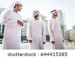 three arabic men bonding... | Shutterstock . vector #644415385