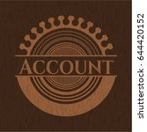 account badge with wood... | Shutterstock .eps vector #644420152