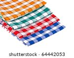 colored dishcloths isolated on