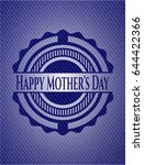 happy mother's day badge with... | Shutterstock .eps vector #644422366