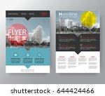 set of brochure poster flyer... | Shutterstock .eps vector #644424466