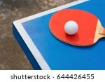 pingpong rackets and ball on a... | Shutterstock . vector #644426455