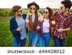 group of friends enjoying party....   Shutterstock . vector #644428012