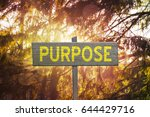 Small photo of Inspirational Purpose sign on forest nature background