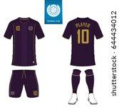 set of soccer kit or football...   Shutterstock .eps vector #644434012