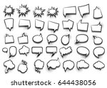 funny set comic book cartoon... | Shutterstock .eps vector #644438056