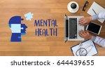 mental health mental... | Shutterstock . vector #644439655