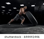 adult male bodybuilder posing... | Shutterstock . vector #644441446