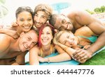 best friends guys and girls... | Shutterstock . vector #644447776