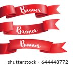 red ribbons horizontal banners... | Shutterstock .eps vector #644448772