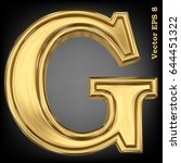 vector letter g from gold solid ... | Shutterstock .eps vector #644451322