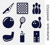 hobby icons set. set of 9 hobby ... | Shutterstock .eps vector #644455522