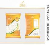 rice food or thai food  package ... | Shutterstock .eps vector #644456788