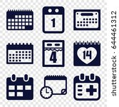 appointment icons set. set of 9 ... | Shutterstock .eps vector #644461312
