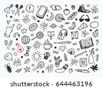 workplace concept. icons set.... | Shutterstock .eps vector #644463196