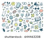 workplace concept. icons set.... | Shutterstock .eps vector #644463208