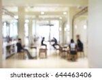 blurred soft of indoor public... | Shutterstock . vector #644463406