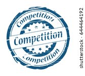 competition grunge stamp  ... | Shutterstock .eps vector #644464192