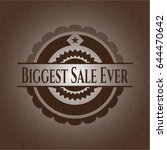 biggest sale ever badge with... | Shutterstock .eps vector #644470642