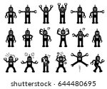 robot cartoon characters in... | Shutterstock .eps vector #644480695