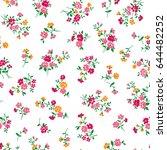 flower illustration pattern | Shutterstock .eps vector #644482252