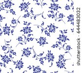 flower illustration pattern | Shutterstock .eps vector #644483032