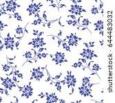 flower illustration pattern | Shutterstock .eps vector #644483032