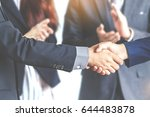 handshake of business partners | Shutterstock . vector #644483878