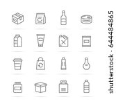 Stock vector product package vector line icons minimal pictogram design editable stroke for any resolution 644484865
