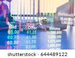 double exposure business people ... | Shutterstock . vector #644489122
