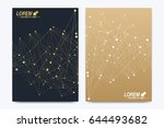 vector template for brochure ... | Shutterstock .eps vector #644493682