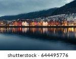 view on bruges. bergen. norway   Shutterstock . vector #644495776