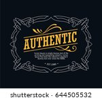 vintage linear thin line frame... | Shutterstock .eps vector #644505532