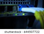 label and fiber optic plug... | Shutterstock . vector #644507722