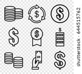 income icons set. set of 9... | Shutterstock .eps vector #644515762