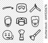beard icons set. set of 9 beard ... | Shutterstock .eps vector #644520676