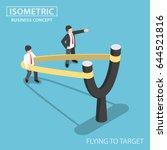 flat 3d isometric businessman... | Shutterstock .eps vector #644521816