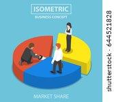 businessman cut chart pie with... | Shutterstock .eps vector #644521828