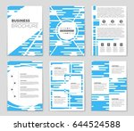 abstract vector layout... | Shutterstock .eps vector #644524588