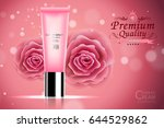 luxury cosmetic bottle package... | Shutterstock .eps vector #644529862
