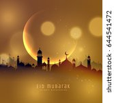 awesome eid festival background ... | Shutterstock .eps vector #644541472