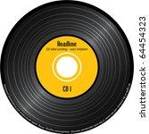 cd label printing   imitation... | Shutterstock .eps vector #64454323