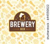 brewery logo emblem design.... | Shutterstock .eps vector #644550022